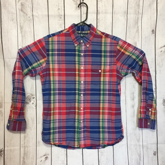 3a99907f Polo by Ralph Lauren Shirts | Ralph Lauren L Plaid Long Sleeve ...